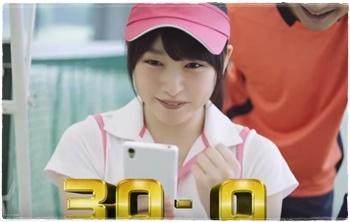 桜井日奈子出演、白猫テニスCM「白熱バトル篇」