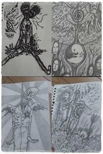 中田敦彦、狂気のイラストその1